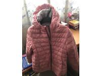 Uniqlo Pink Lightweight Hooded Coat