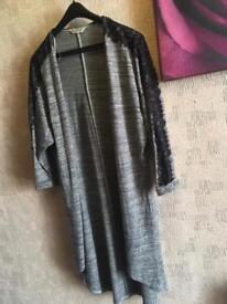 Miss selfridge ladies open cardigan grey black size 8 used £4