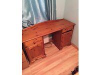 Desk and Bedside cabinets