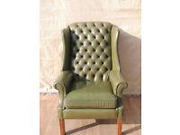 Vintage unique Chesterfield Armchair (Delivery)