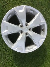 SUBURU OEM GENUINE 17 INCH 2017 ALLOY WHEELS