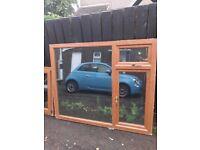Two Oak pvc windows. Exellent condition.