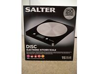 Salter Disc Electronic Digital Kitchen Scales - Black