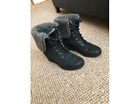 Black waterproof ugg boots size 4.5