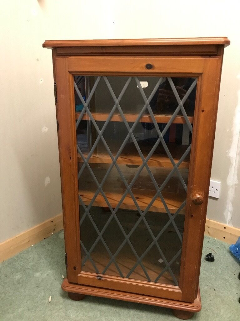 "Pine cabinetin Ivybridge, DevonGumtree - Pine cabinet. 21""w x 29""d x 37""h Leaded glass front Couple of small marks Good quality not cheap and nasty"