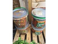 4x 5l buckets of Ronseal Fence Life - Medium Oak