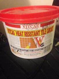 Log burner tile grout vitcas approx 1.8kg