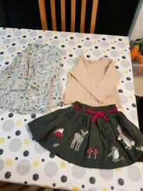 NEXT girls top and skirt 12 - 18 months and dress 11/2 - 2 years