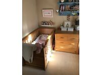 Beautiful Mamas and Papas Ocean Cotbed and Changing Unit