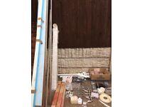 Job lot diy fixings hinges handles clothes rail tiles plumbing wtc