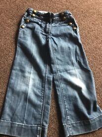Girls NEXT denim jeans aged 6yrs