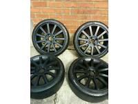 Fiesta ST Alloy Wheels & Pirelli Tyres / Matte Black / Suit MK6 MK7 / Zetec S / ST500