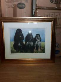 Hand painting of cocker spaniels