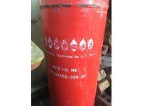 FULL 47kg calor gas propane bottle and regulator
