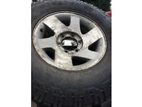 Mitsubishi l200 tyres alloys set of 5