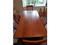 Solid Oak Table and 6 chairs rrp £2500 only £300