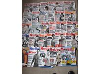 JOB LOT 29 MEN'S HEALTH MAGAZINES-1996-2005-EXERCISE/SPORT/DIET-MAINLY GOOD-COLLECT ONLY BENFLEET