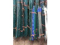 Electric fence stakes