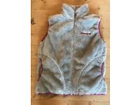 Girls Sprayway (from tiso) fluffy grey and pink cosy gilet Age 8-9