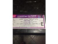 4 Paolo Nutini tickets - Night Afore Concert. Edinburgh
