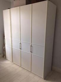 1x150cm and 1x50cm Rauch white wardrobes - LAST PRICE