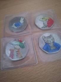 Beatrix potter coins