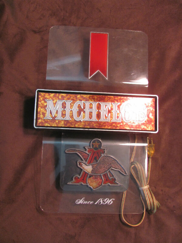VINTAGE MICHELOB BEER/ALCOHOL BAR DISPLAY WALL SIGN LIGHT BREW