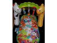 Baby bouncer, jumperoo, bumbo seat, playgym