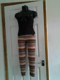 Ladies leggings and top