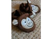Cheeky Monkey baby booties NEW Sizes 0-3 & 3-6 months, comes in an organiza bag, perfect gift