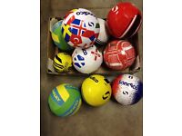 10 New Mixed Footballs with fault rip as on pictures