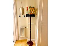 Beautiful Art Floor Lamp - handmade Frida Kahlo lampshade