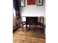Drop leaf table & two chairs