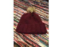 ASOS Red Bobble Hat - new unworn