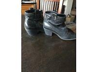 Faith - black Leather boots