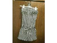 New Stunning black & white dress/jumpsuit with frill