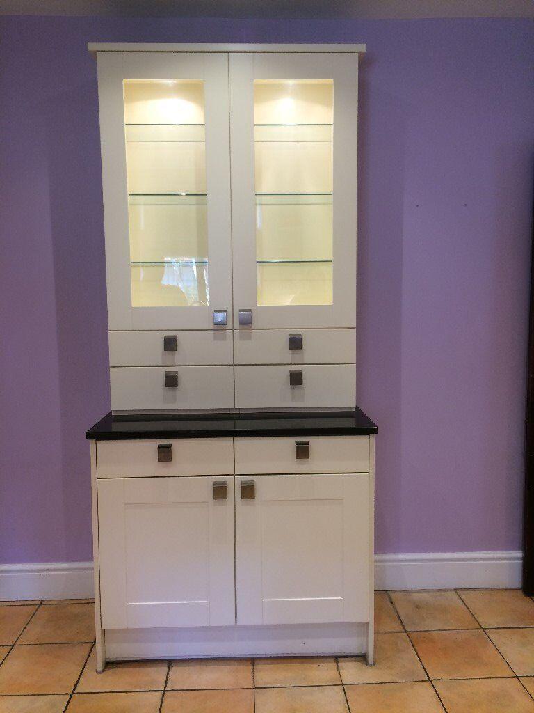 John Lewis Kitchen Dresser With Black Granite Top
