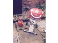 Red Gas BBQ on wheels