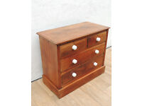 Antique pine wooden chest of 4 drawers (Delivery)