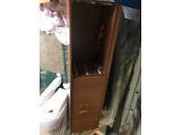 Long and narrow sideboard with doors and 3 drawers