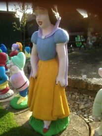 Snow white and Seven Dwarfs Garden Ornaments