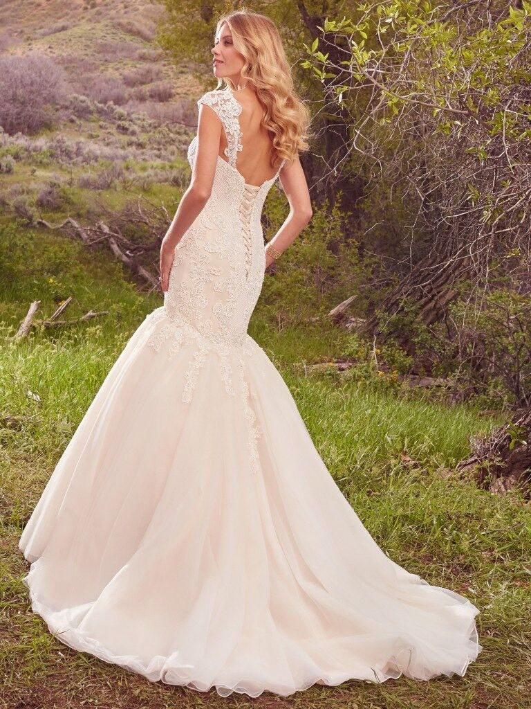 Maggie sottero keely fit flare with cathedral veil now reduced image 1 of 6 ombrellifo Choice Image
