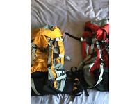 2 X 60 LITRE RUCK SACKS