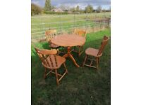 Pine table 4 chairs
