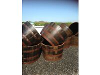 Half and full size Whiskey barrels