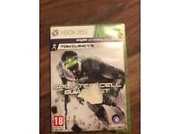 Xbox game tom Clancy's s splinter cell blacklist