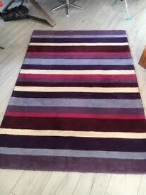 Purple stripy rug