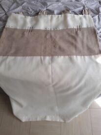 2 Curtains beige brown