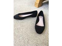 Black faith flat shoes - unworn