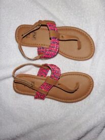 Girls F&F Sandals Little Used Size 1